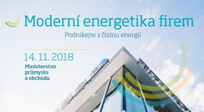 """Pozvánka – Konference """"Moderní energetika firem – podnikejte s čistou energií"""""""