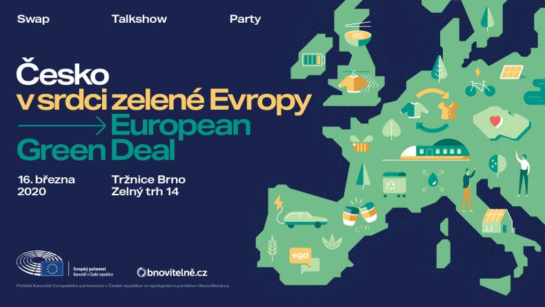 Česko v srdci zelené Evropy: European Green Deal – swap/talkshow/party v Brně