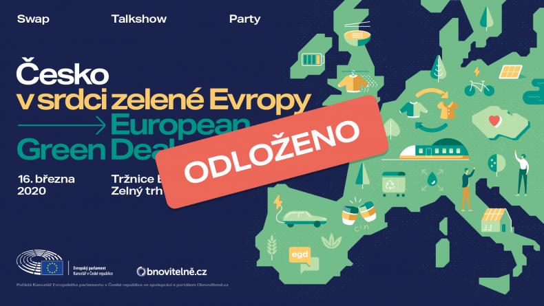 ODLOŽENO – Česko v srdci zelené Evropy: European Green Deal – swap/talkshow/party v Brně