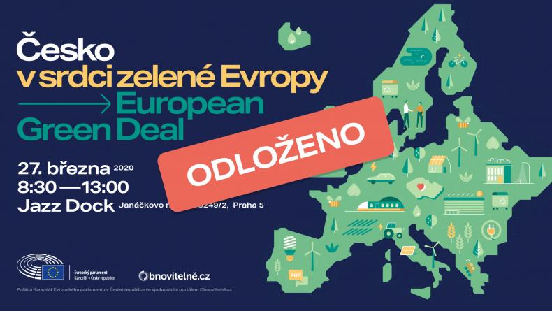 ODLOŽENO: Debata k Evropské zelené dohodě proběhne i v Praze