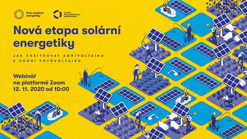 Pozvánka na webinář o agrivoltaice a plovoucí fotovoltaice