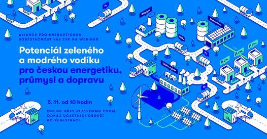 Potenciál zeleného a modrého vodíku pro českou energetiku, průmysl a dopravu