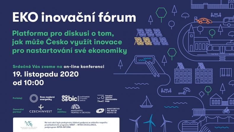 Ekoinovační fórum – platforma pro diskusi o tom, jak může Česko využít inovace pro nastartování své ekonomiky