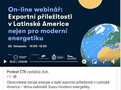 Exportní příležitosti v Latinské Americe nejen pro moderní energetiku