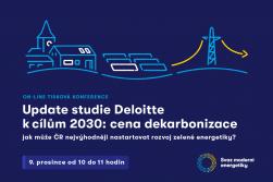 ON-LINE TK: Update studie Deloitte k cílům 2030: cena dekarbonizace – jak může ČR nejvýhodněji nastartovat rozvoj zelené energetiky?