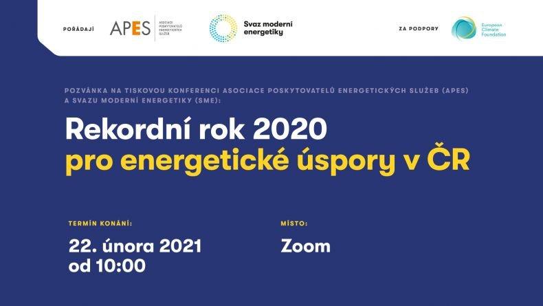Tisková konference: Rekordní rok 2020 pro energetické úspory v ČR
