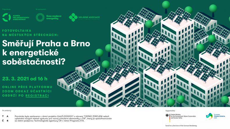 Webinář: Fotovoltaika na městských střechách: Směřují Praha a Brno k energetické soběstačnosti?