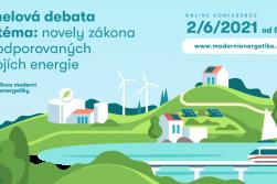 Panelová debata: Proměna české energetiky – příležitosti a souvislosti novely zákona o podporovaných zdrojích energie.